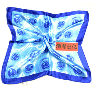 Rose Square silk scarf