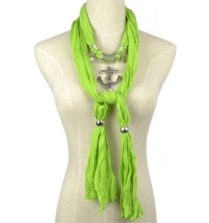 pendant scarf with chain jewelry necklace