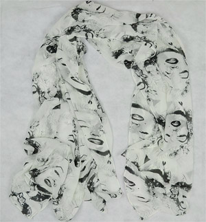large smiley silk scarf