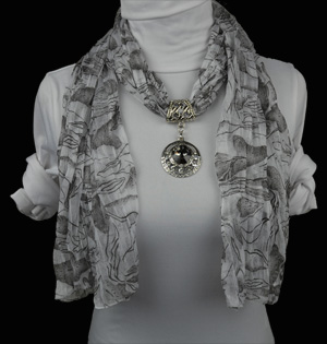 Diamond fashion jewelry scarf