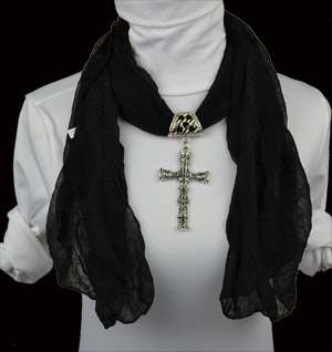 Cross Jesus fashion jewelry scarf