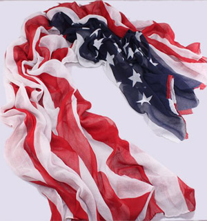 POLYESTER wholesale USA flag