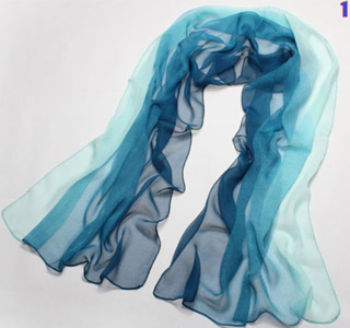 Gradient color silk scarves wholesale