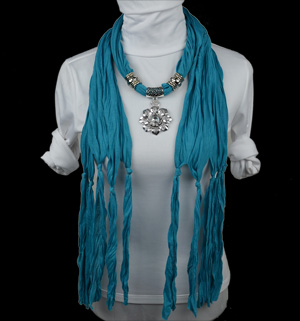Fashion Flower Pendant Scarf alloy