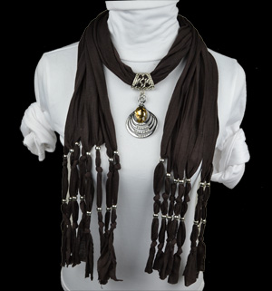 crystal pendant scarf winter new design with jewelry