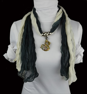 Chinese Dragon Pendants Scarf