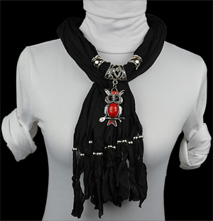 Owl alloy jewelry scarf fashion pendants scarves