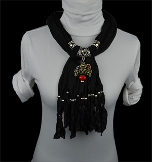 New Zealand flower jewelry scarves