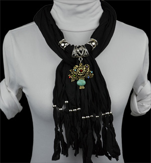 Fashion baskets alloy pendant scarves jewelry scarf