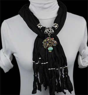 Indonesia jewelry scarves Alloy pendant scarf