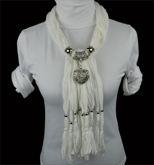 pendant scarf beads whlolesale scarves