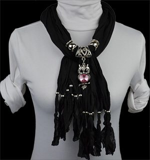 wholesale Fashion alloy beads pendant scarf