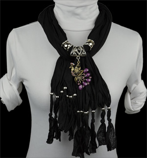 wholesale fashion alloy Phoenix jewelry necklace pendant scarf