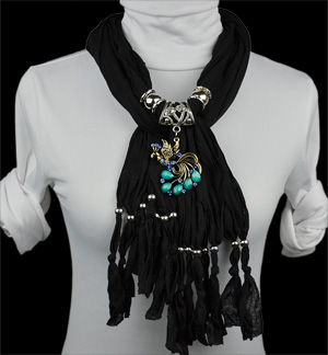 USA stylish alloy Phoenix necklace pendant scarf