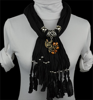 Canadian fashion alloy Phoenix necklace pendant scarf