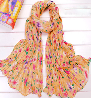 Summer Voile fashion flowers scarf