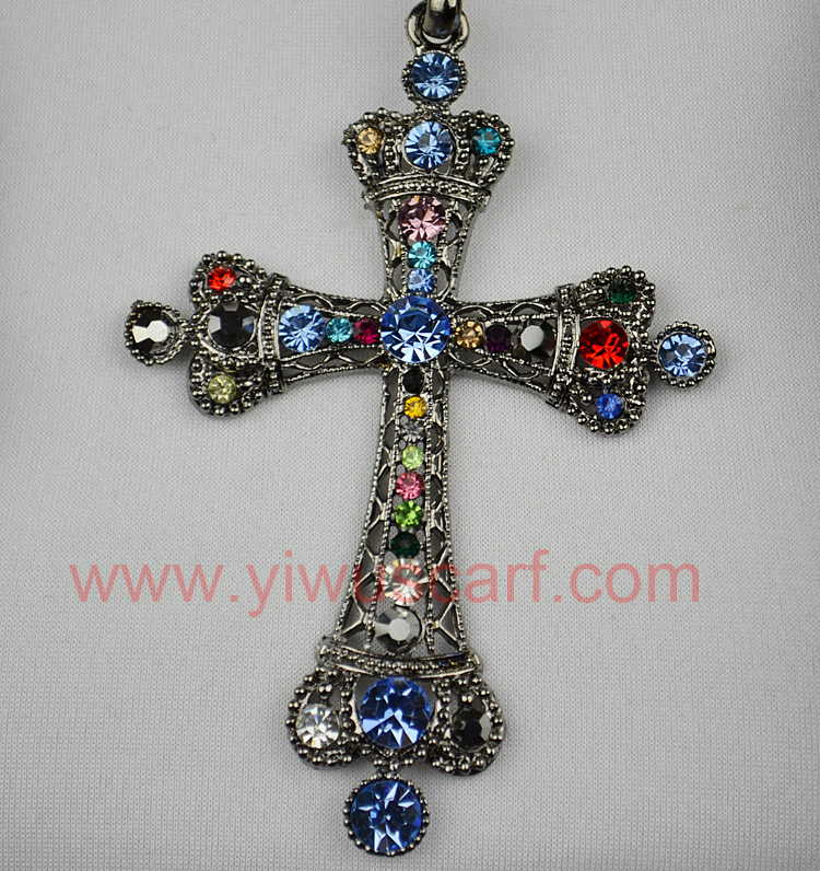 cross pendant scarves