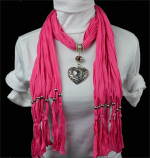Wholesale New Heart pendant scarf