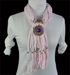 USA New York fashion alloy pendant jewelry scarf