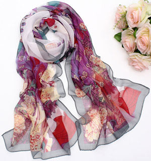 Make silk chiffon scarf
