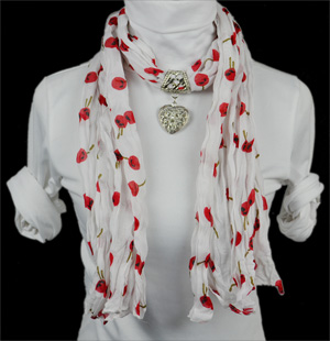 beaded scarf scarf with pendant jewelry scarf