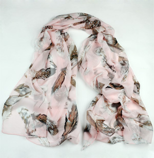 Feather silk scarf China scarf supply