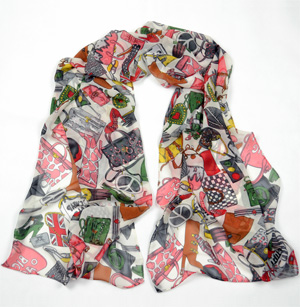 Fashion high heels silk scarf Wholesale