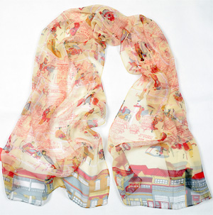 China Riverside silk scarf