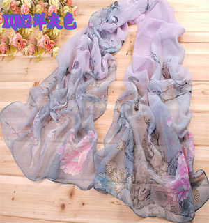 Hand made silk scarves Birds scarf