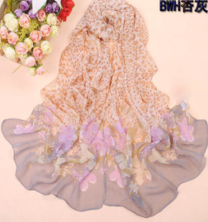 Hot Selling  chiffon silk scarf
