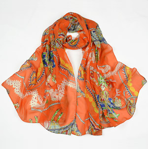 silk chiffon scarves women
