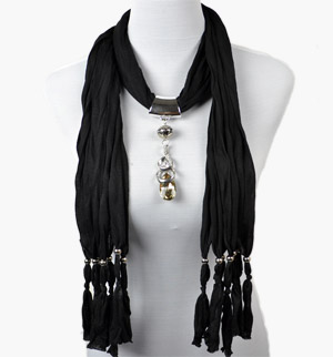scarf with pendant scarf jewelry rings