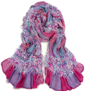 Color stitching scarf Picking scarves