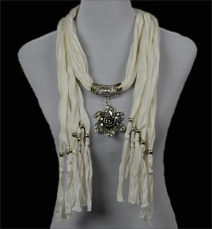 jewelry scarf flower pendant scarves