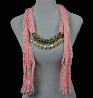 China Jewelry Scarf With Pearl Pendant