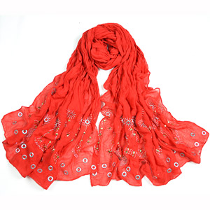 Fashion lady knitted muslim hijab scarf