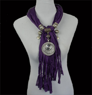 fashion scarves with pendants