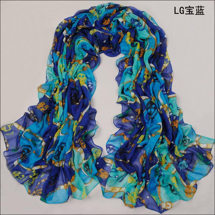 Chain skull scarf Europe scarf
