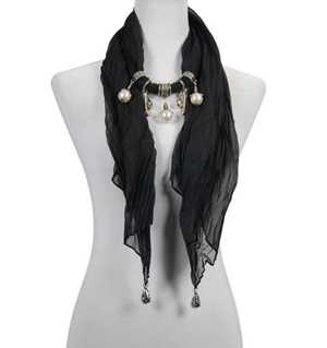 Pearl Pendant Scarf