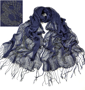 Viscose Scarf with hot drill