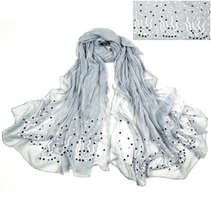 Fashion hot fix rhinestone scarf