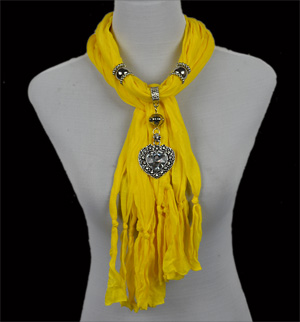 Wholesale scarf jewelry zinc alloy pendant scarves