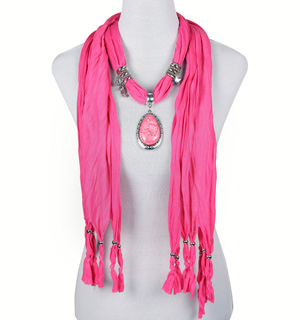 Wholesale pendant scarves jewelry scarf