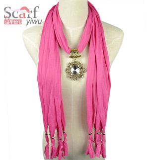 Red Jewelry Pendant Scarf Fashion Long Tassel