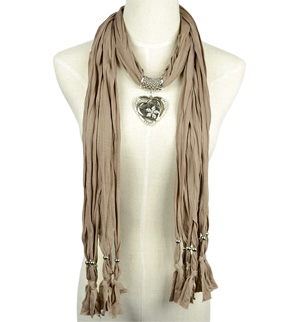 Heart Pendants jewelry scarf