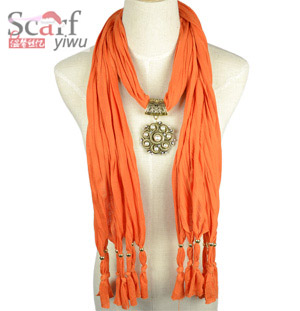 Gold alloy pendants scarf wholesale