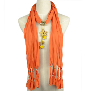 Stars pendant scarves wholesale