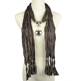 Heart jewelry pendant scarf wholesale