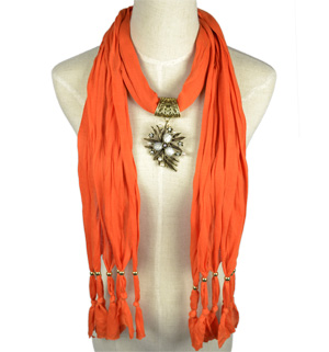 Leaves jewelry scarves wholesale pendant scarf