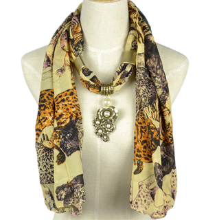 Leopard pattern jewelry scarves wholesale
